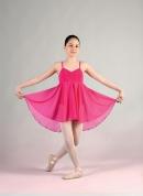 Ballettkleid im Empire-Stil (Farbe: weiß und dunkelblau)