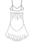 Ballettkleid im Empire-Stil (Farbe: fuchsia und schwarz)